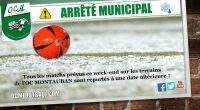 Tous les matchs prévus ce week-end sur les terrains de l'OC MONTAUBAN sont reportés à une date ultérieure ! Bon week-end à tous !