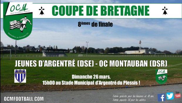 A l'occasion des8èmes de finale de la coupe de Bretagne seniors qui ont lieu ce dimanche à 15h au Stade Municipal d'Argentré-du-Plessis, une vidéo teaser a été réalisée pour annoncer […]