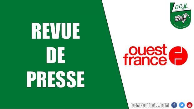 Retrouvez l'article du Ouest-France sur le match nul 2-2 des seniors A accroché dans les dernières secondes à Vignoc.